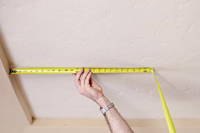 Замер и расчет стоимости натяжного потолка
