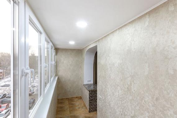 Тканевый натяжной потолок, пример.